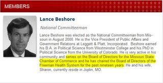 Lance Beshore GOP Freeman Health System